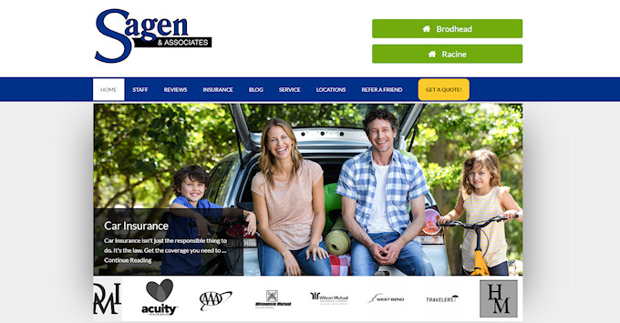 Sagen & Associates new website